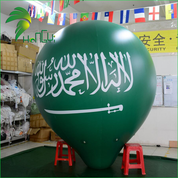Fantastic Promotional Inflatable Taper Shape Balloon / Floating Inflatable Helium Green Cone Conical Ball