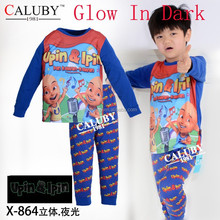 turn off the lights glow in the dark boys upin and ipin pajamas,underwear
