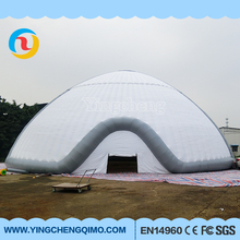 giant inflatable white igloo dome tent , inflatable camping tent for event square large pvc marquee