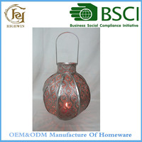Metal Galvanized Lantern Candle Holders for Homeware