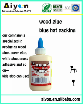 quick setting wood glue , easy and safe poly bottle packing gold glue