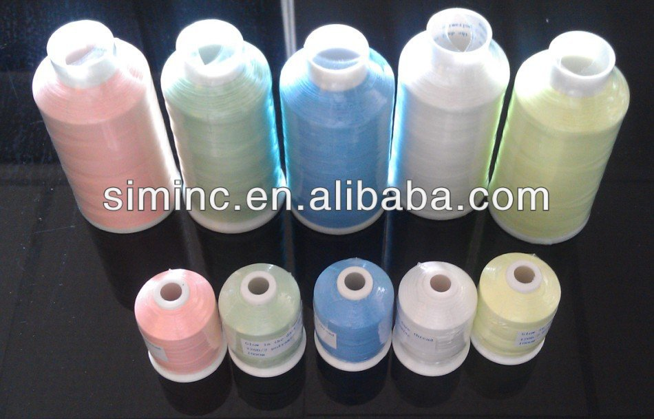 glow thread/3000m/cone Glow In The Dark Embroidery Thread
