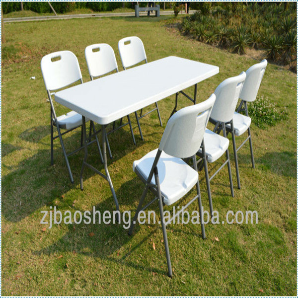 outdoor camping 6ft plastic folding table