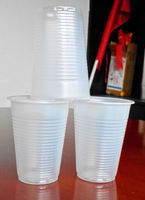 200ml white plastic cups/ aviation drinking drink tea beverage disposable plastic tea cup and saucer bomb cup