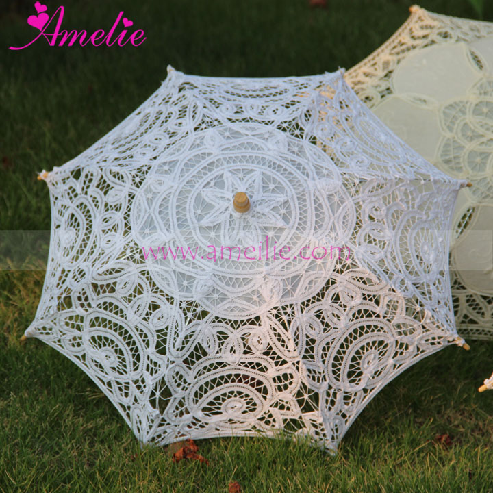 11.8inches Handmade Small Children Size Wedding Flower Girl Dress Party Shower Umbrella Parasol Kids Umbrella