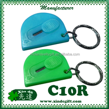 Retractable minischaar - Retractable safety mini cutter, Mini cutter key chain key holder -with stainless steel blade