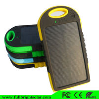 5000 mAh waterproof dual usb universal multi-function mobile solar power bank charger