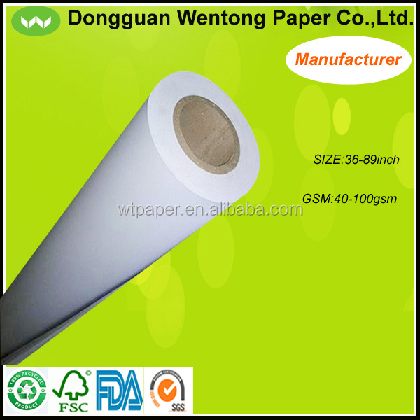white CAD/CAM tracing plotter paper for apparel factory