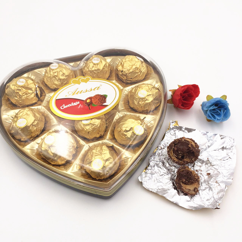 150g 12 PCS season new year party Heart gift box nuts chocolate