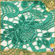 Shaoxing Supplier Textile Chemical Velvet Fabric Lace Embroidered Patches