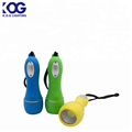Fashion modeling COB rubber flashlight with Hanging rope