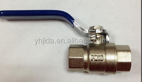 China manufacturer High Temperature Temperature of Media Brass stem Water Media ball valve