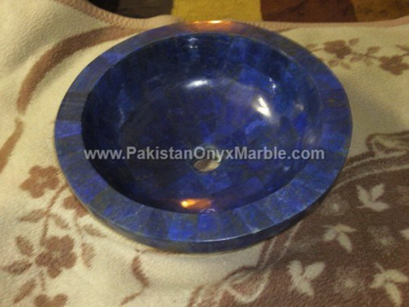 POLISHED LAPIS LAZULI GEMSTONE SINKS AND BASINS