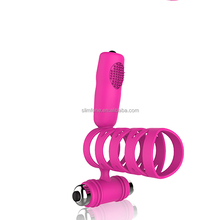 Pink Purple Pussy Magic Wand Massager Silicone Massager Mens penis ring vibrator strong Cock Penis Ring Cockring