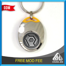 Wholesale Unique Design trolley coin keyring For New Gift Items