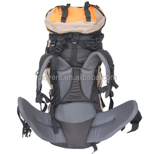 45L polyester hiking backpack with strong padding
