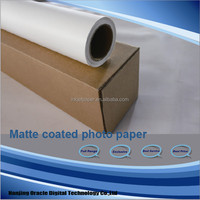 120g roll matte coated waterproof paper for digital printing ,