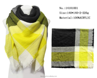 big size square scarf gradient mulit color patched knitting acrylic scarfs for man winter