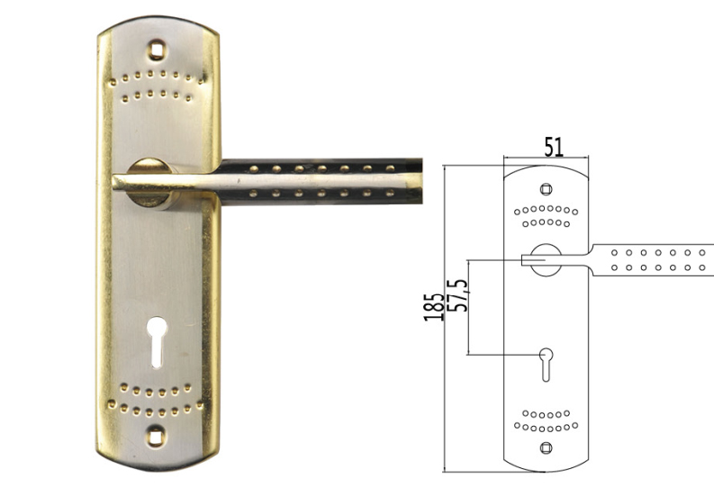 2017 Foshan New Patent Hot Sale High Quality Wooden Plate Door Handle Lock for Africa