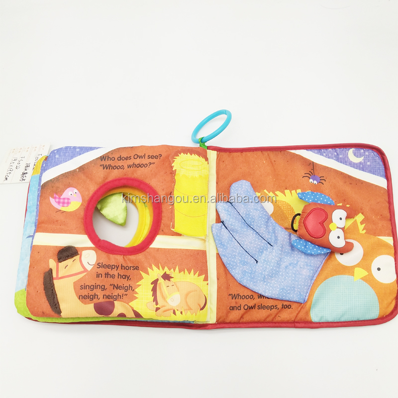 Gift for 0-3 Years Old Baby 3D Cloth Book Colorful Design with Teether