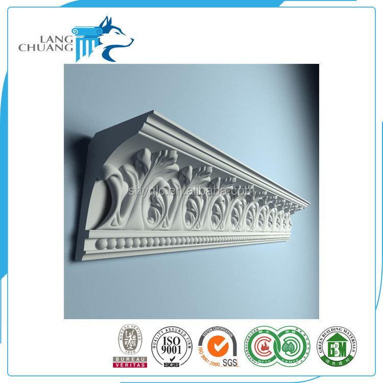 New Design PU Foam Carved Crown Cornice Moulding
