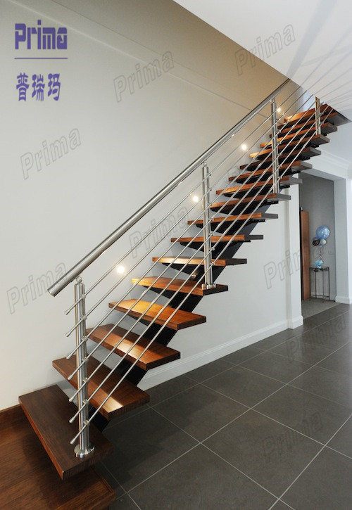 Wooden Handrail For Indoor Stairs Designs Indoor Wooden Staircase