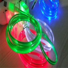 usb cable flashing light color led micro usb cable for iphone