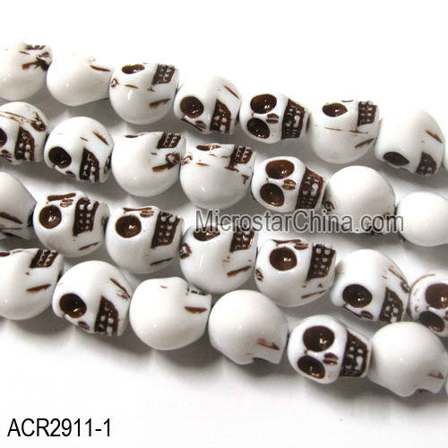 Fashion jewelry skull acrylic chain