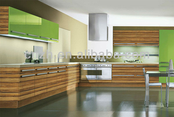 Modern melamine laminate MDF Acry/PVC/ kitchen cabinet model with fashionable and most durable artificial quartz worktop 3946