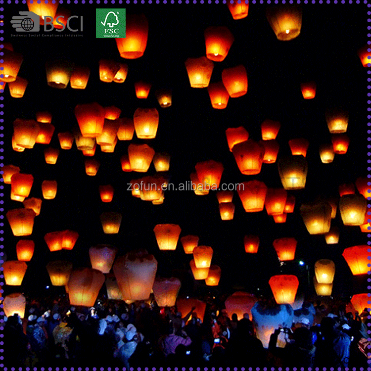 Most Popular Eco Flying Wishing Kong Ming Lanterns Wholesale