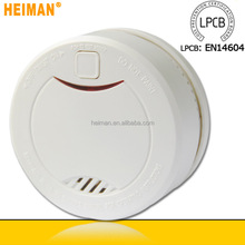 hEIMAN EN14604 approved 10 year 3v lithium battery operated fire alarm smoke deteector with red light