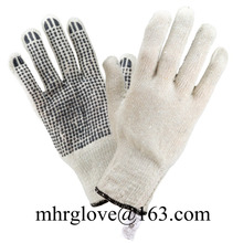 Brand MHR New design cotton gloves with PVC dots