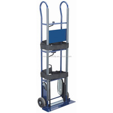 heavy duty two crank steel powered stair climbing hand truck for moving furniture