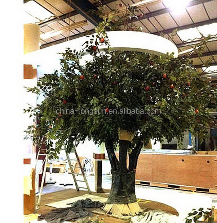 LS16071305 factory make customized large centerpiece decorative fake artificial apple tree for sell