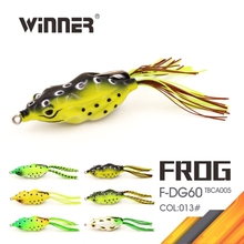 Hollow Belly Frog Bait Soft Frog Topwater Fishing Lure Crankbait Bass Bait Tackle 60mm