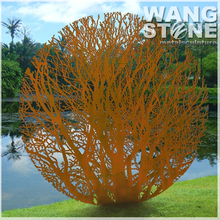 Corten Steel Garden Art Rusty Metal Tree Sculpture