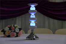 lantern wedding centerpiece/gold plating glass candle holder/plastic pedestals and columns