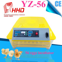 Excellent quality with CE approved 56 eggs fully automatic mini industrial chicken incubator