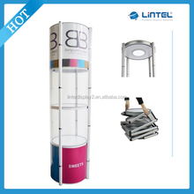Folding Display Case Rotating Portable Spiral Tower Showcase(LT-07-T)