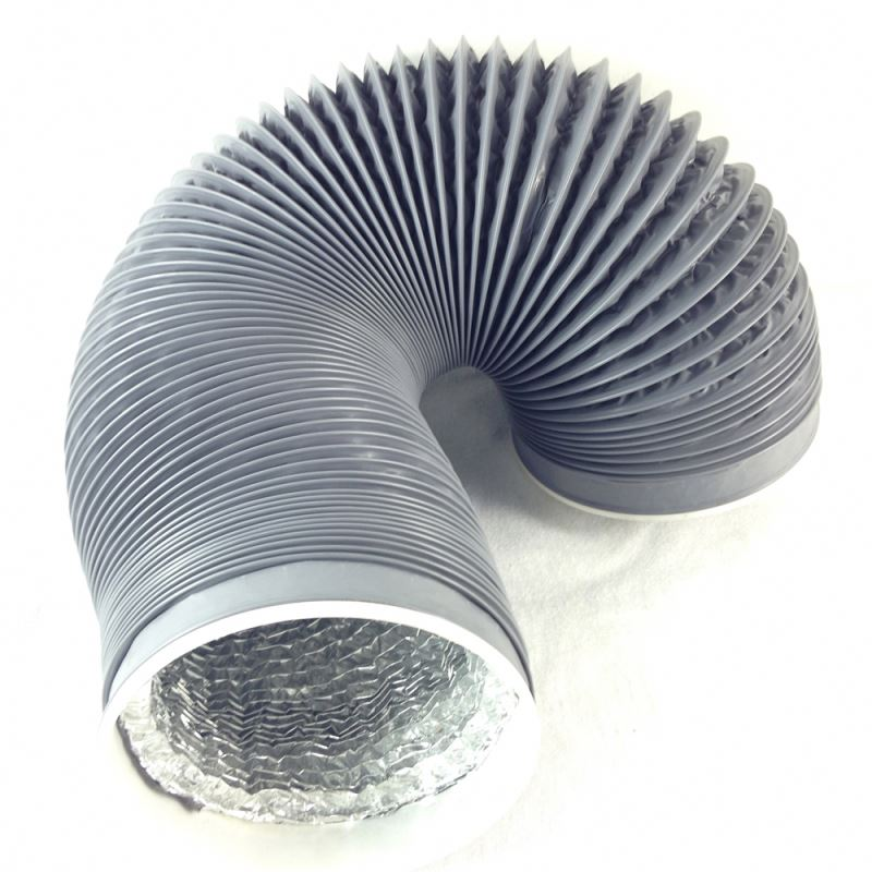 Heat resistant PVC sprial aluminum foil duct air ventilation pipe flexible duct hose