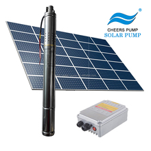 solar pump set solar water pump 95m head for agriculture price with solar pump controller