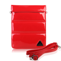 Hand strap shoulder leather bag case for ipad mini