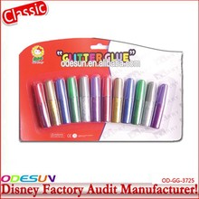 Disney Universal NBCU FAMA BSCI GSV Carrefour Factory Audit Manufacturer Colorful Glitter Hot Melt Glue Stick
