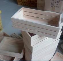 New Designed Wooden Crates Wholesale Cheap Wooden Fruit Crates for Sale