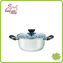 Induction Stainless Steel Casserole Stockpot With Glass Lid