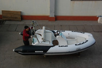RIB430C inflatable boat with ce console boat outboard boat
