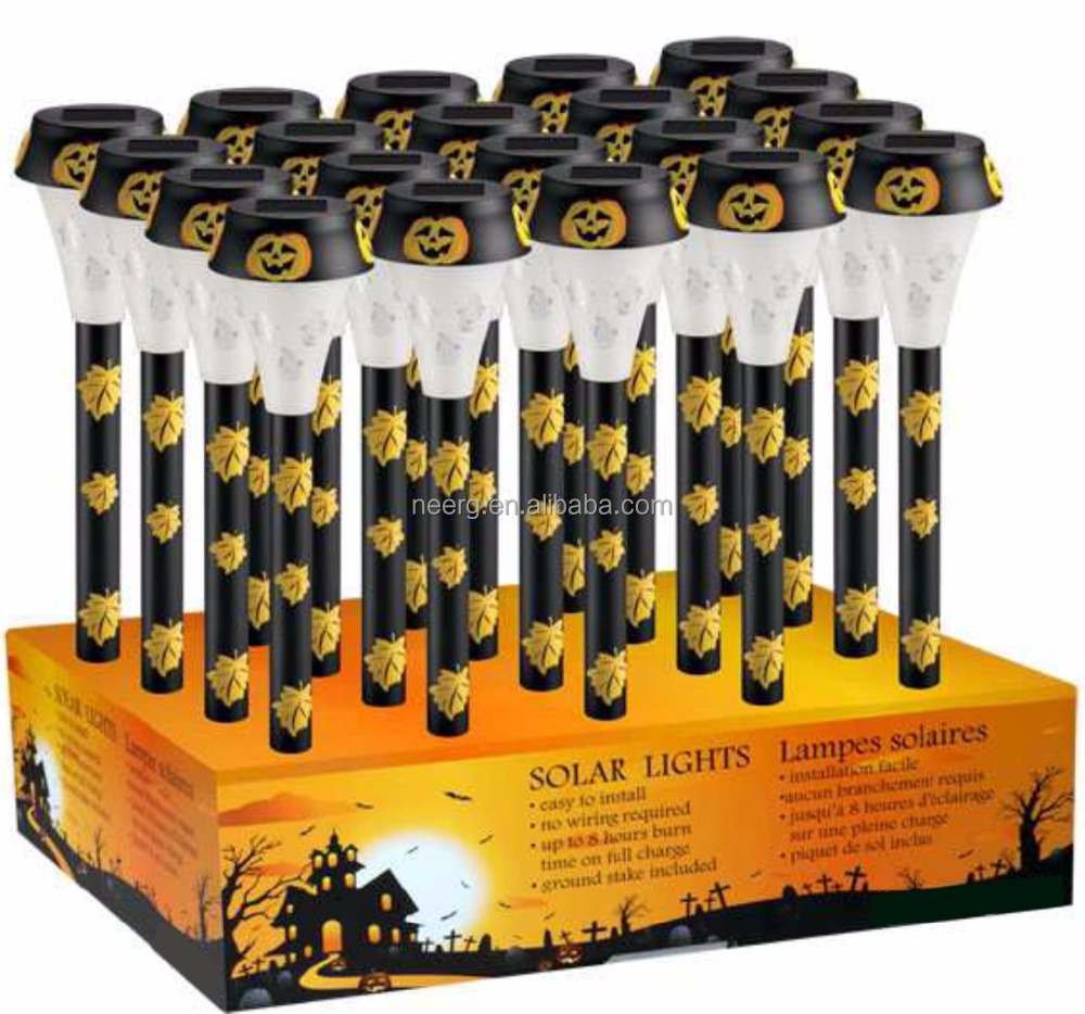 12-PC HALLOWEEN ARES Solar Pathway Light (PDQ) With Pumpkin Lens
