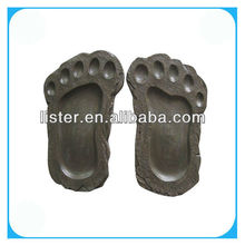 Decorative stepping stones foot shaped