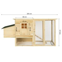 High temperature drying large wooden chicken coop/hen house