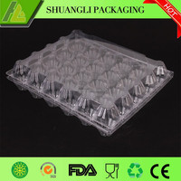 Folded Design Egg Tray With Lid Egg Use Plastic Tray